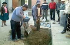making bocachi in Bolivia